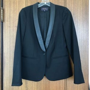 Madewell Buckley Tailors Leather Trim Blazer